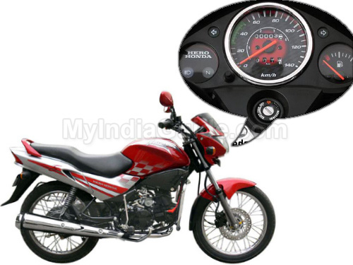 Hero Honda Glamour Speedometer View