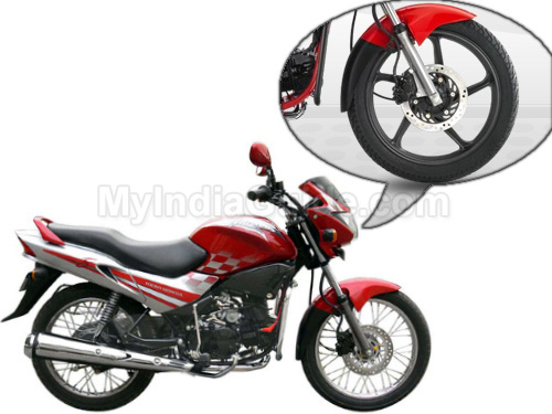 Hero Honda Glamour Wheels And Tyre View