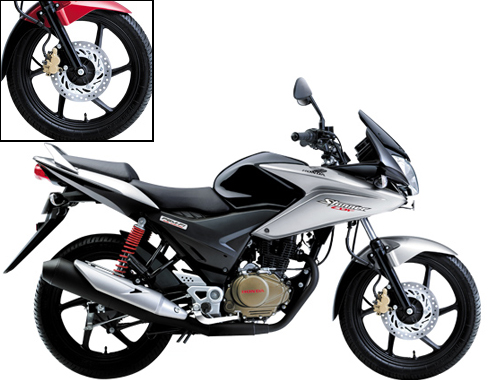 Honda CBF Stunner PGM FI Wheels And Tyre View