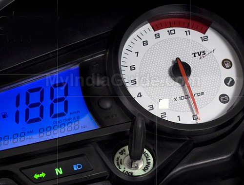 TVS Apache RTR 180 Speedometer View