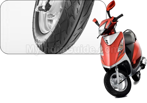 TVS Scooty Streak Wheel Base View