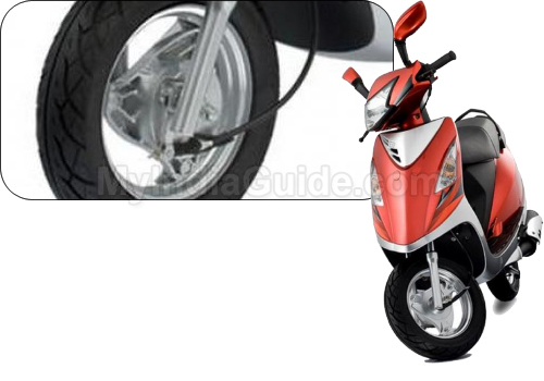 TVS Scooty Streak Wheels And Tyre View
