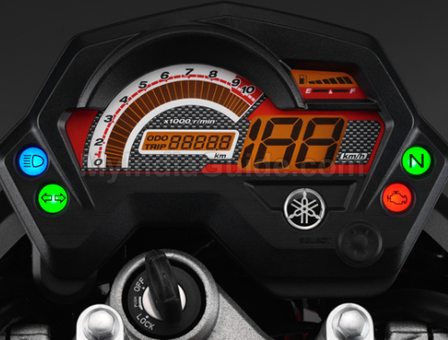 Yamaha FZ16 Speedometer View