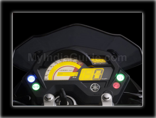 Yamaha FZS Speedometer View