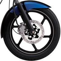 Bajaj Discover 135cc DTSi wheels and tyre view Picture