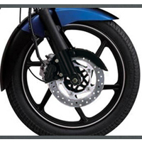 Bajaj Discover 150 Wheels And Tyre View