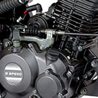 Bajaj Platina 125 Engine View