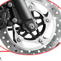 Bajaj Pulsar 135 disk brake view Picture