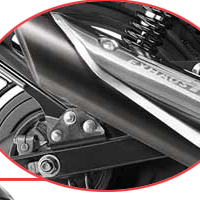 Bajaj Pulsar 135 Silencer View