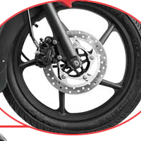 Bajaj Pulsar 135 wheels and tyre view Picture