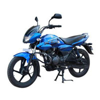 Bajaj XCD Exceed 125cc DTSSi Front Cross Side View