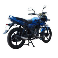 Bajaj XCD Exceed 125cc DTSSi Rear Cross Side View