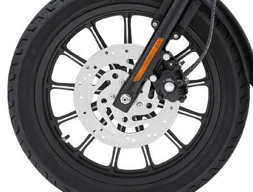 Harley Davidson Iron 883 disk brake view Picture