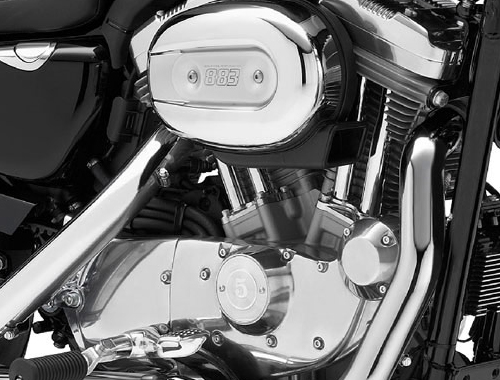 Harley Davidson SuperLow XL883L Engine View