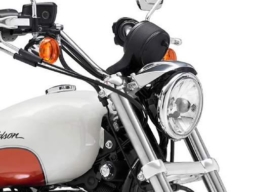 Harley Davidson SuperLow XL883L Head Light View