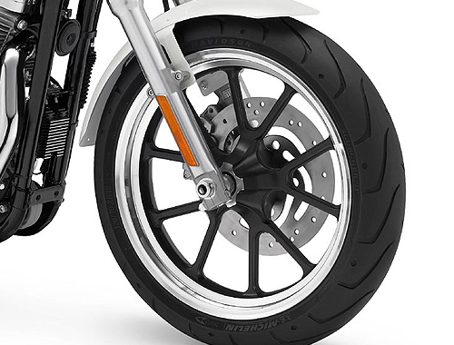 Harley Davidson SuperLow XL883L Wheels And Tyre View