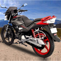 Hero Honda CBZ Xtreme Kick Start Rear Cross Side View