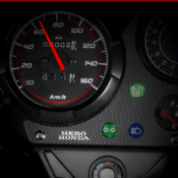 Hero Honda CBZ Xtreme Kick Start Speedometer View