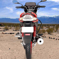 Hero Honda CBZ Xtreme Self Start Back View