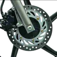Hero Honda CBZ Xtreme Self Start disk brake view Picture