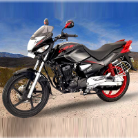 Hero Honda CBZ Xtreme Self Start Front Cross Side View