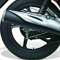 Hero Honda CBZ Xtreme Self Start Silencer View