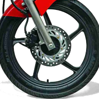 Hero Honda CBZ Xtreme Self Start wheels and tyre view Picture