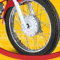 Hero Honda Cddawn Wheels And Tyre View