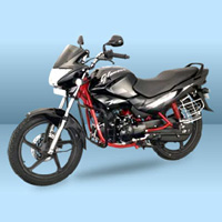 Hero Honda Glamour FI Front Cross Side View