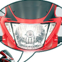 Hero Honda Glamour FI Head Light View