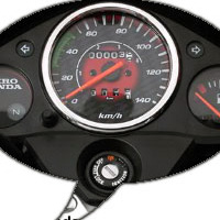 Hero Honda Glamour FI Speedometer View