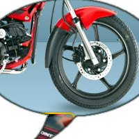 Hero Honda Glamour FI wheels and tyre view Picture