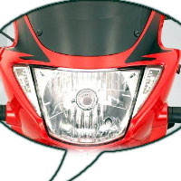 Hero Honda Glamour Head Light View