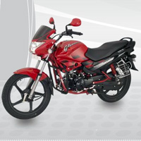 Hero Honda Glamour Rear Cross Side View
