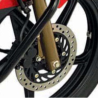 Hero Honda Hunk Disk Brake View