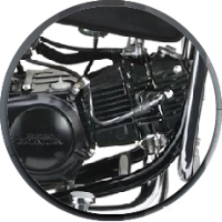 Hero Honda Passion Plus Engine View