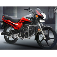 Hero Honda Passion Plus Front Cross Side View
