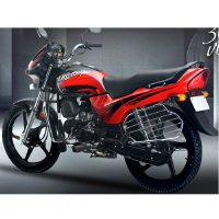 Hero Honda Passion Plus Rear Cross Side View