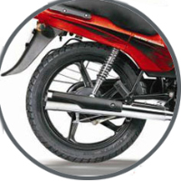 Hero Honda Passion Plus Silencer View
