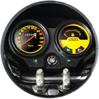 Hero Honda Passion Plus speedometer view Picture