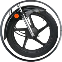 Hero Honda Passion Plus wheels and tyre view Picture