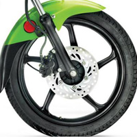 Hero Honda Passion PRO Wheels And Tyre View