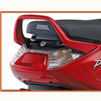 Hero Honda Pleasure Back Light View