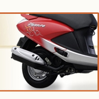 Hero Honda Pleasure Silencer View