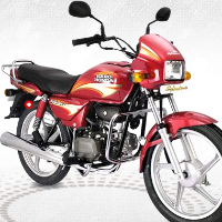 Hero Honda Splendor Plus Front Cross Side View