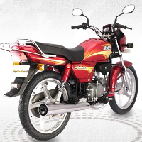 Hero Honda Splendor Plus Rear Cross Side View