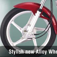 Hero Honda Splendor Plus wheels and tyre view Picture