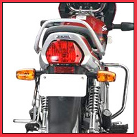Hero Honda Splendor Super Back Light View