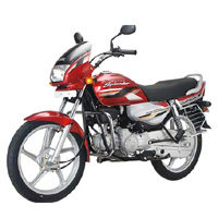Hero Honda Splendor Super Front Cross Side View