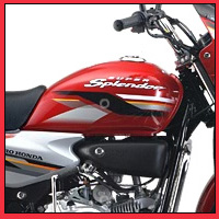 Hero Honda Splendor Super oil tank view Picture
